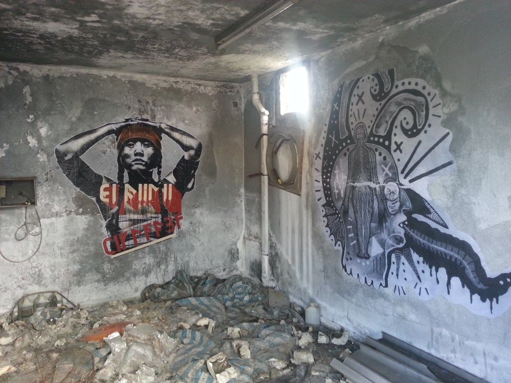 Old Hong Kong Airport- Eddie Colla/DYV collaboration  (left), Benjamin Clarke (right)