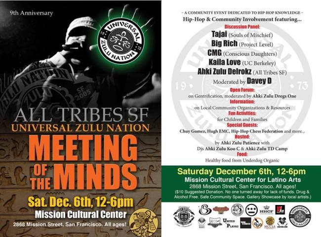 All Tribes SF Universal Zulu Nation - Meeting Of The Minds - 1206-204