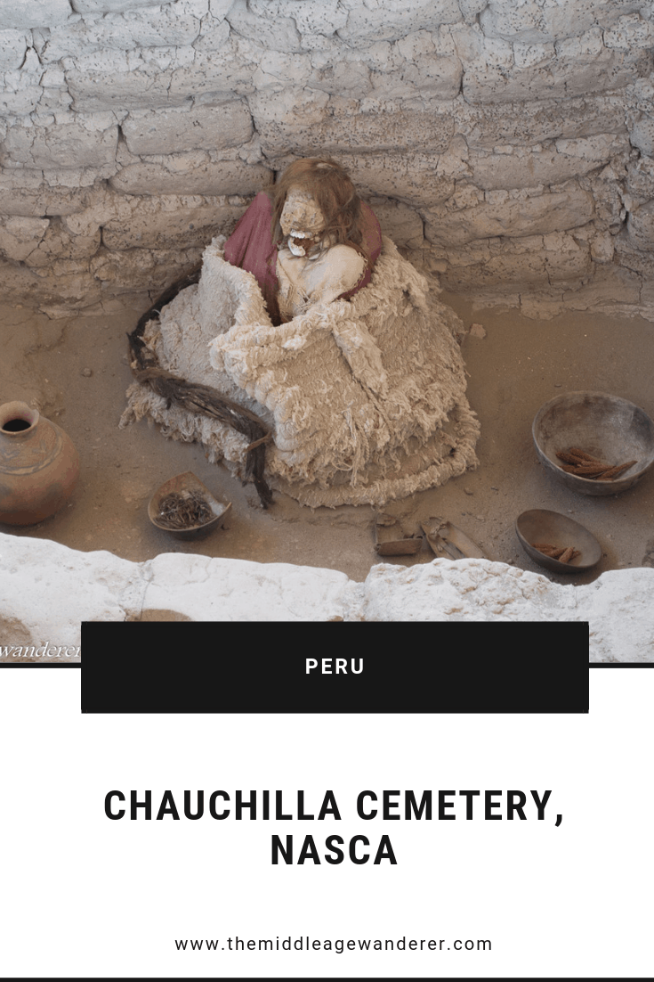Chauchilla Cemetery, Nasca  If visiting Nasca, the Chaucillha Cemetery, is worth visiting. It dates back to 200 AD with most burial happening in the 600 to 700 years following.  #travel #Nasca #Peru #cemetery #mummies #history