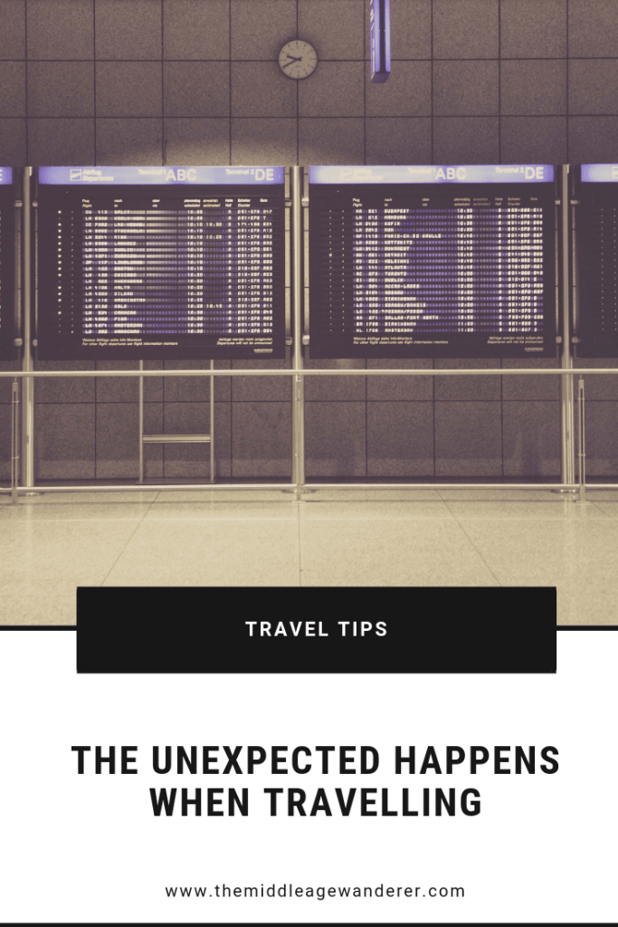 The Unexpected Happen When Travelling