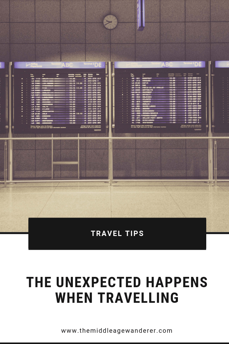 The Unexpected Happens When Travelling.  No matter how well you plan your trip, no matter how many scenarios you plan for, things happen that are outside of your control.  #travel #unexpected #cancelledflights