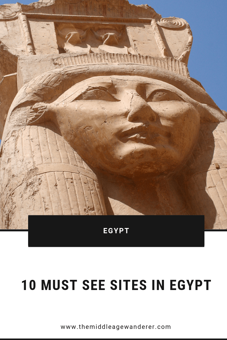 10 Must See Sites in Egypt  Egypt has so many amazing historical sites so I have prepared a list of my 10 must see sites in Egypt to include in planning for your adventure there.  #travel #Egypt #history #temples