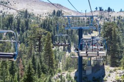 Riding the lift to the Adventure Zone.