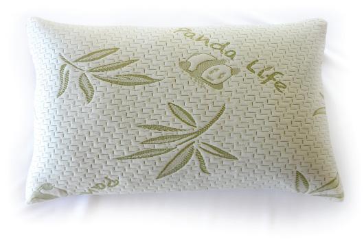 panda life pillow with shredded memory foam