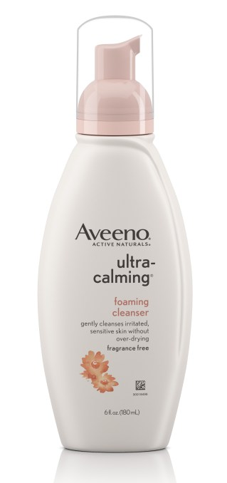 aveeno ultra-calming foaming cleanser for sensitive skin