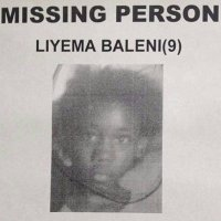 missing child Liyema Baleni