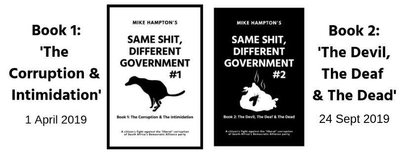 Same Shit Different Government by Mike Hampton (DA corruption) release dates