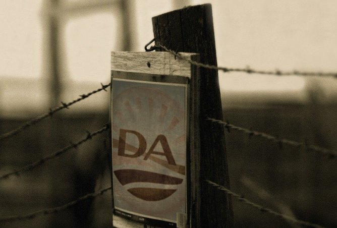 Democratic Alliance old - barbwire fence