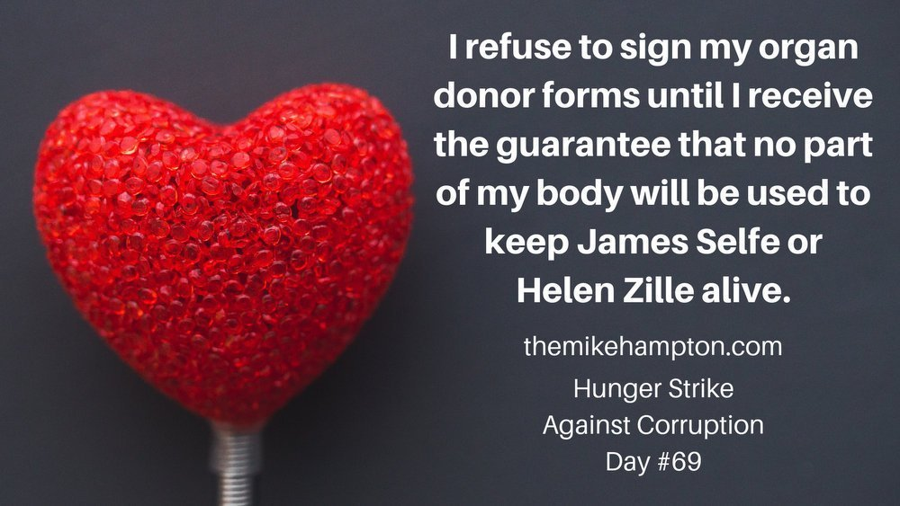 I refuse to donate my organs to the Democratic Alliance