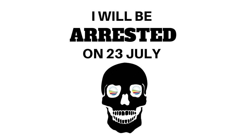 I will be arrested 23 July - Mike Hampton vs Democratic Alliance
