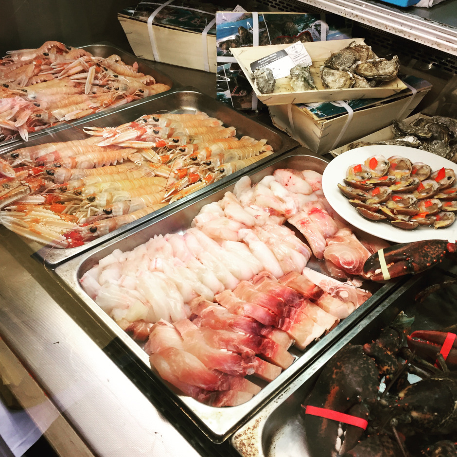 The seafood selection