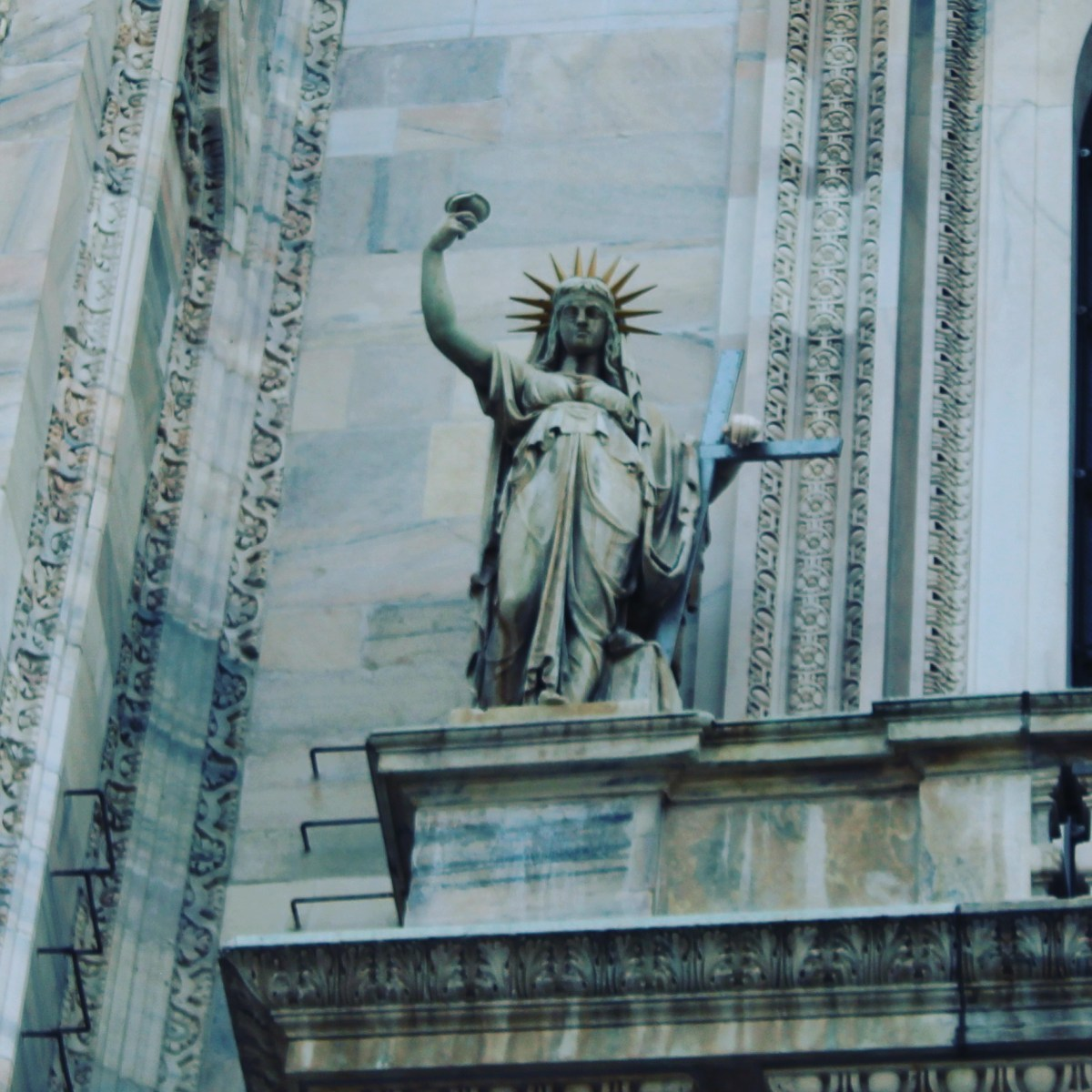 The Statue of Liberty is in Milan