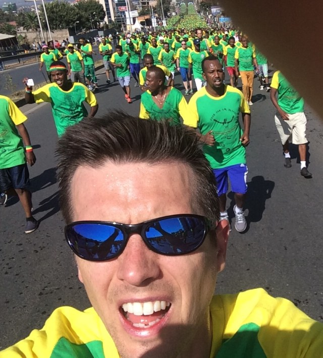 Participating in the Great Ethiopian Run!