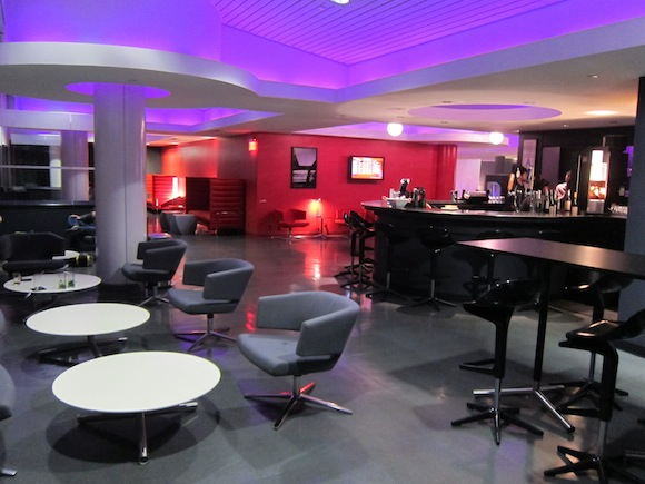 Loft Seating area and Bar
