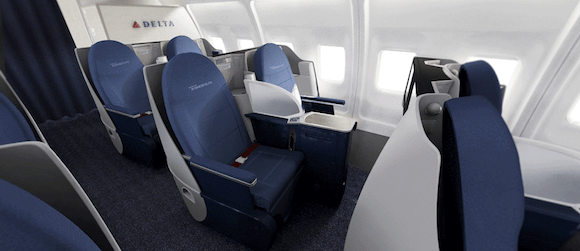 Delta's Transcontinental Business Lay-Flat Product