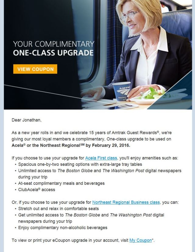 My Upgrade Email