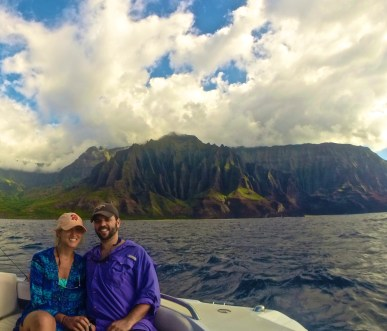 Na Pali experience boat cave tour kauai, hawaii on points and miles