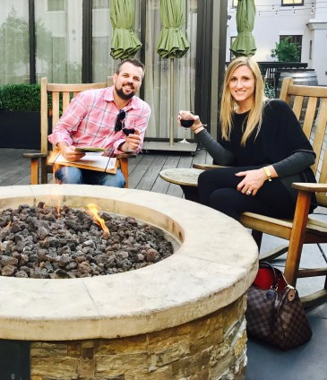 Andaz Napa firepit, hyatt globalist, chase ultimate rewards
