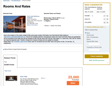 get maximum value when redeeming hyatt points, hyatt globalist, park hyatt maldives