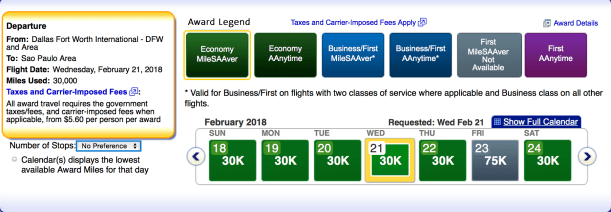 American Airlines AAdvantage award ticket availability, aa economy awards
