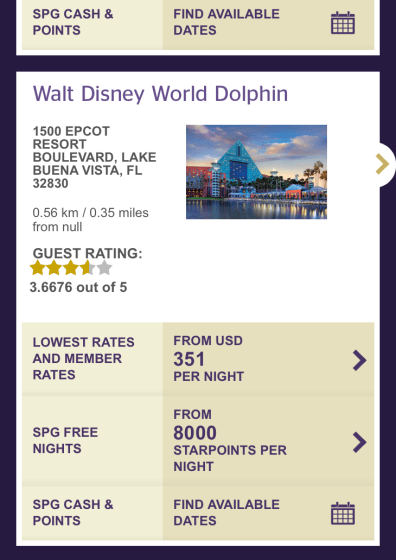 disney dolphin spg points, should I buy starpoints