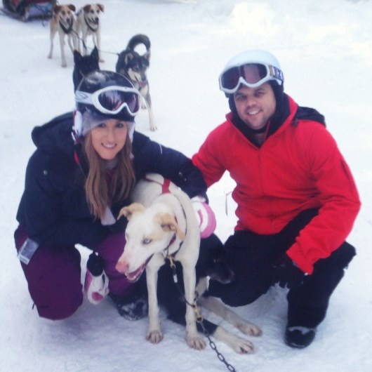 Dog sledding in Whistler, Canada