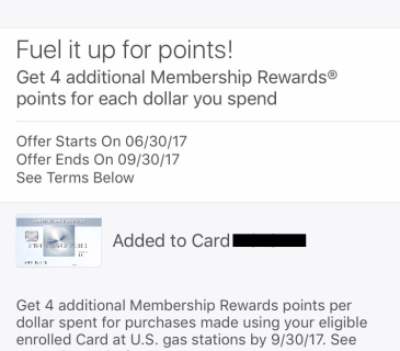 5x membership rewards on gas!