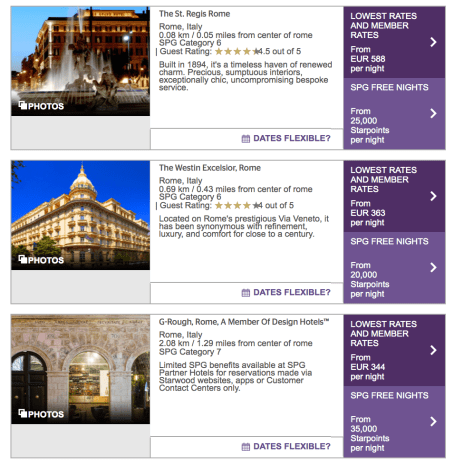 rome on spg starpoints