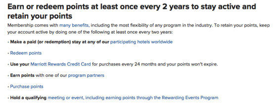 keep Marriott Rewards points from expiring, do marriott points expire