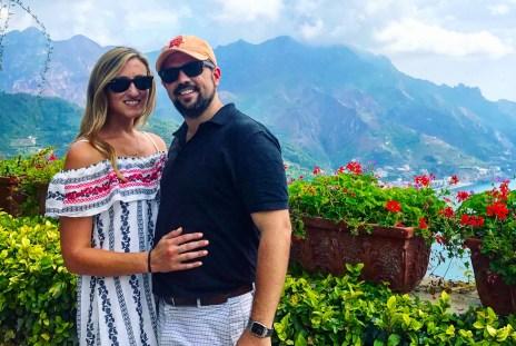 Enjoying the views from Villa Rufolo