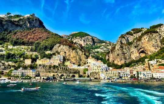 View of Amalfi from the ferry