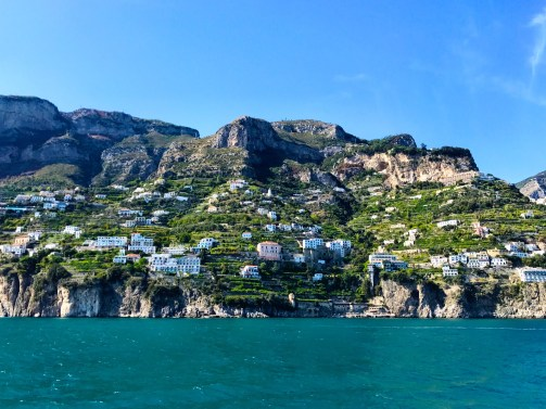 View from the ferry between Amalfi and Positano