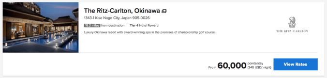chase ultimate rewards ritz Carlton Okinawa