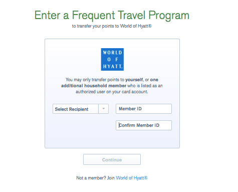 how to transfer chase ultimate rewards points to hyatt