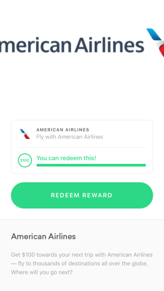 Earn free American Airlines gift cards with the Drop app.