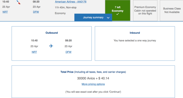 fuel surcharges on British Airways award tickets