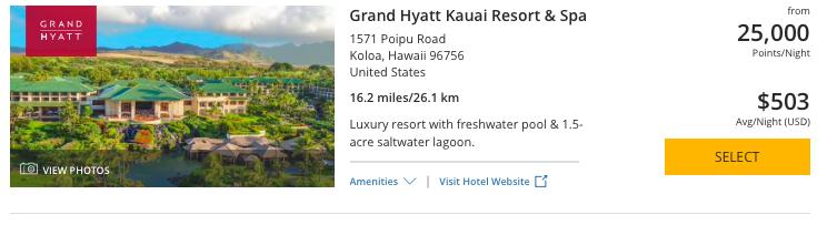 Grand Hyatt Kauai, How to book grand Hyatt Kauai with Hyatt or Chase Ultimate Rewards points