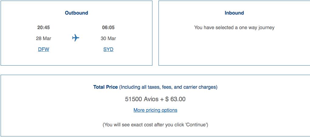 using British Airways to book Qantas flights