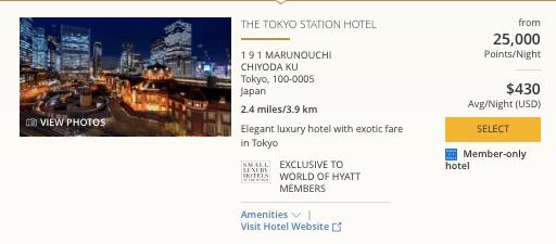 Hyatt in Japan, World of Hyatt points in Tokyo
