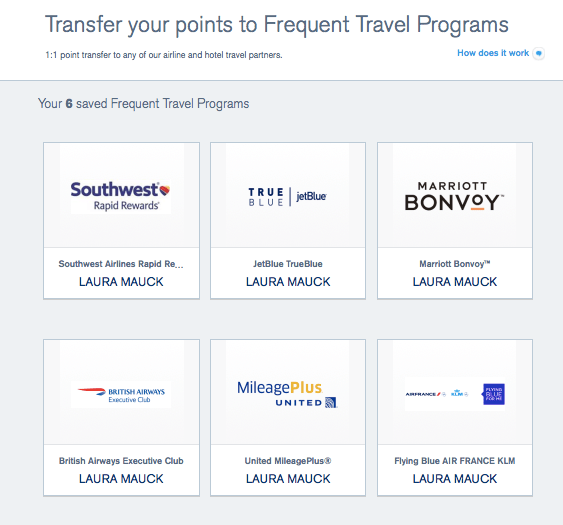 How to transfer Ultimate Rewards points to partner airlines and hotels