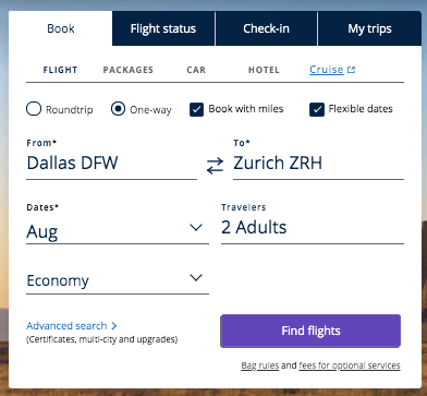how to find star alliance partner award flights with United