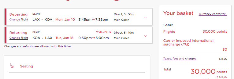 how to book hawaii flights with virgin atlantic miles