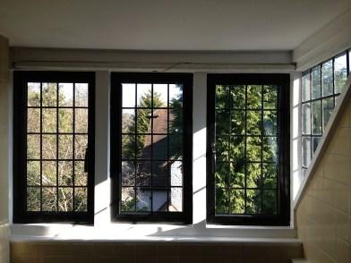 Aluminium windows with timber frames