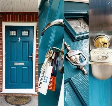 Solidor Composite Doors Peacock Blue