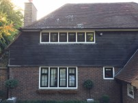 Black aluminium timber fix windows