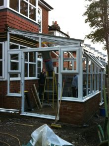 PVCu conservatory in the making