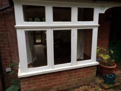 bay and kitchen window