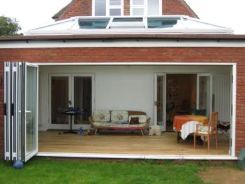 Bi-fold doors patio