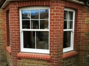 PVCu sash bay window