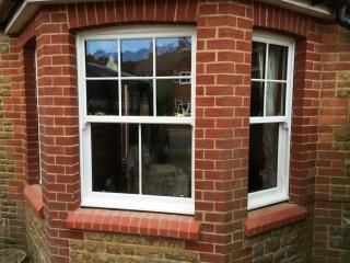 PVCu sash bay window